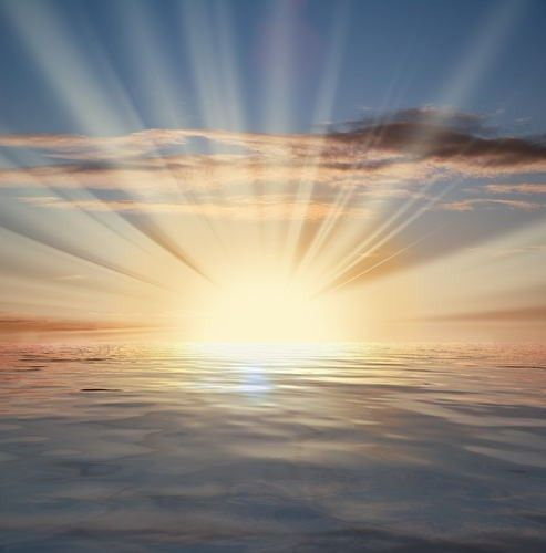 ~The Sun on the Sea~ Doesn't get any better~ Sun, Sand, Ocean, Morning's with God on the beach~ <3