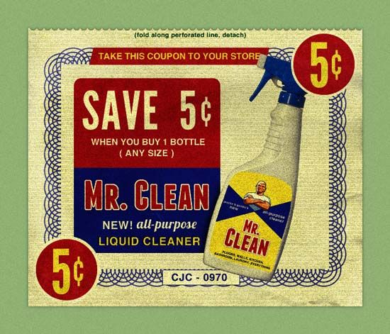 Create Vintage Coupon in #Photoshop