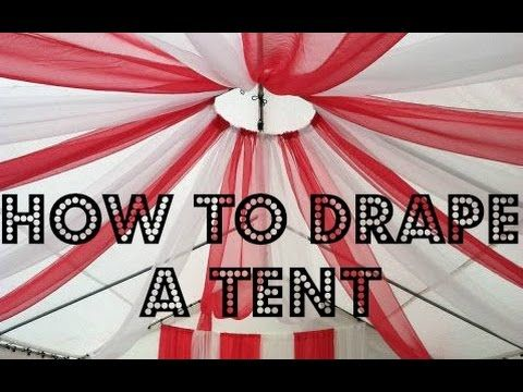 How to drape a tent - YouTube
