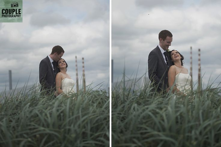 Romantic time at Sandymount Strand. Real Wedding by Couple Photography