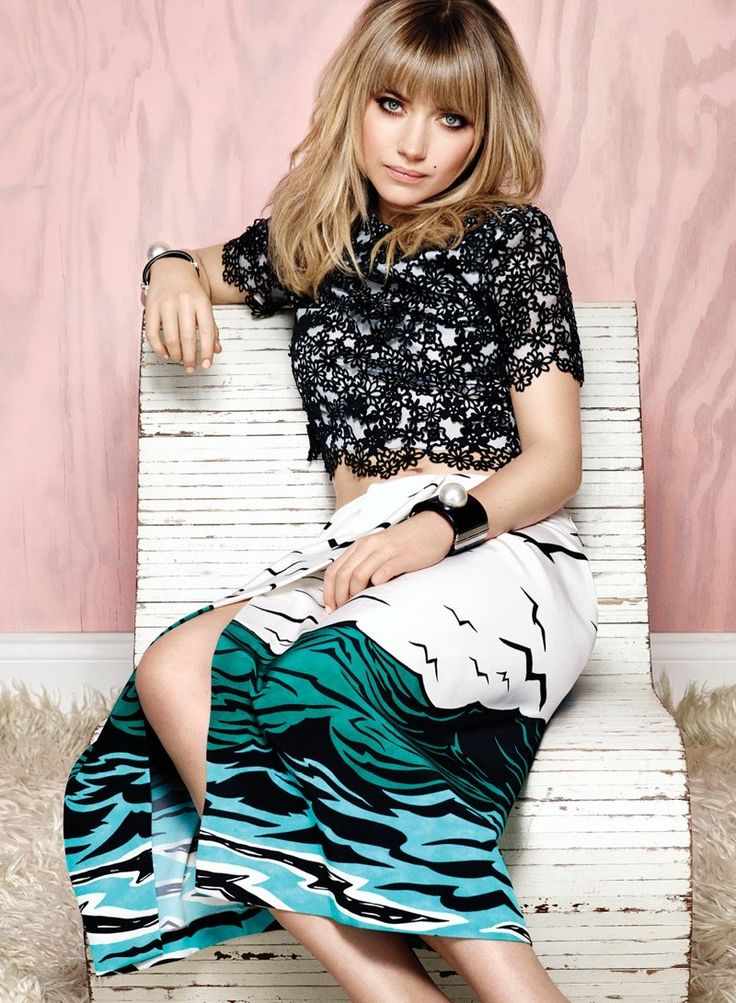LOVE this look..! imogen poots 2014 5 Imogen Poots Covers Flare, Calls Courtney Love Her Fashion Icon