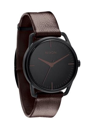 Nixon Brown leather and black watch