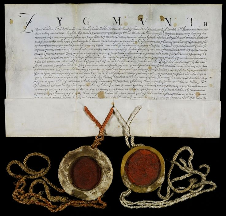Commitment of Sigismund III Vasa to return to Poland after his coronation as King of Sweden issued at the General Diet in Warsaw, 1593, Biblioteka Narodowa