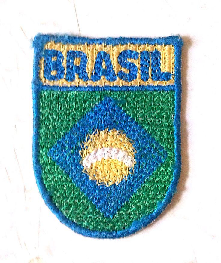 emblema brodata, logo – brasil, broderie,