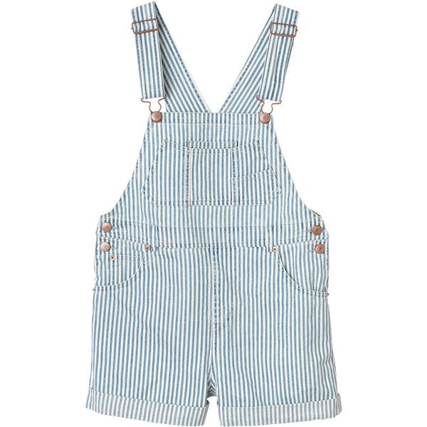 Minda Dungerees (19 BHD) ❤ liked on Polyvore featuring jumpsuits, overalls, shorts, bottoms, denim overalls, denim overall, overall jumpsuit, white overall and bib overalls