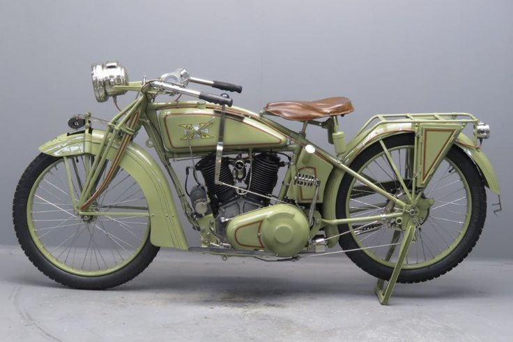 """Excelsior 1917 """" Series 17"""" 974 cc ( 61 ci) IOE V-twin The famous American Excelsior motorcycle was produced by the Excelsior Motor Manufacturing Company of Chicago, Illinois from 1907 until 1931, latterly under the 'Super-X' brand name. The first Excelsior was a belt-driven single cylinder machine, the engine of which formed part of the ... Read more"""