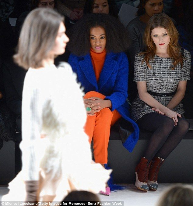 Young mother: Not seen Monday was Solange Knowles' nine-year-old son Daniel with ex-husband Daniel Smith, whom she divorced in 2007 after three year marriage alongside Anna Kendrick