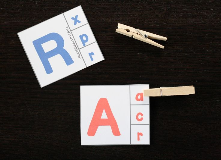 Activities for alphabet clip cards are a hands-onway to make upper and lowercase letter