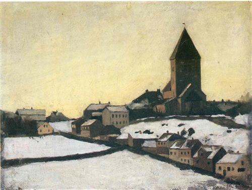 Old Aker Church - Edvard Munch