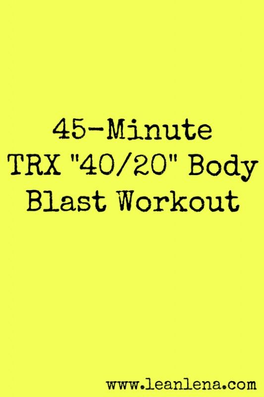**TRX Class Plan: 45 Minutes (website has more ideas/info and templates)