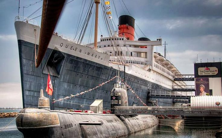The Queen Mary is docked in Long Beach, check it out on your trip!