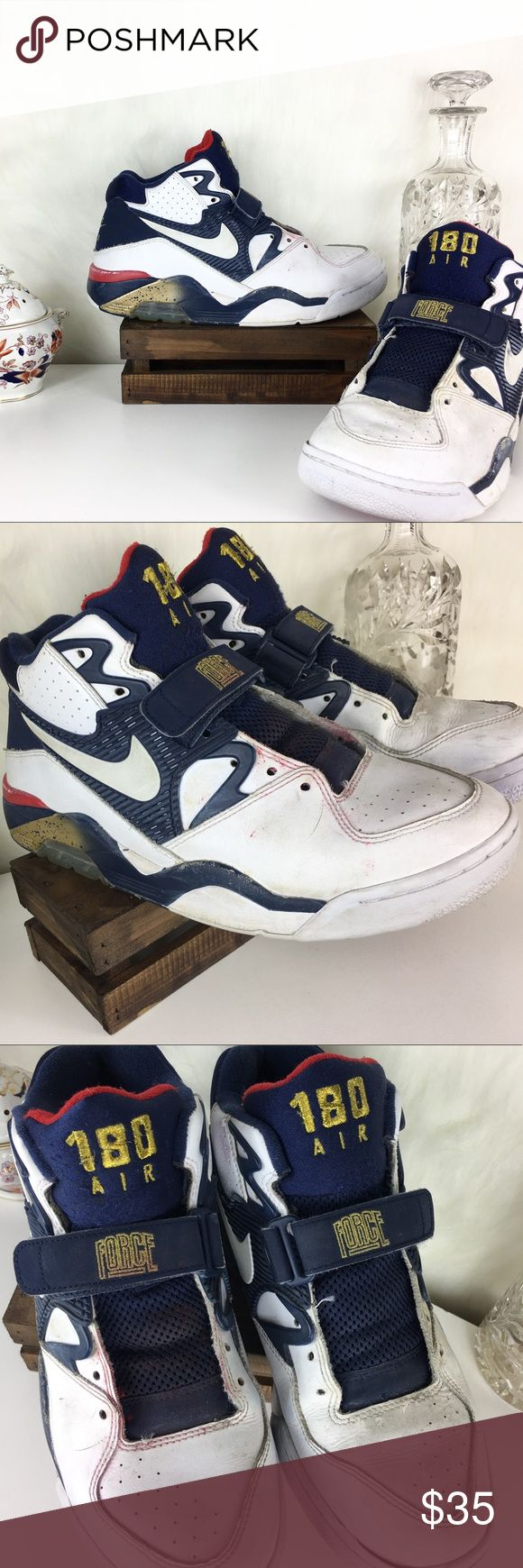 Nike Air Force 180 'Olympic' Team USA Sneaker Shoe Size 8.5US x Men's x See detailed photos for Shoe condition x Nike Shoes Sneakers