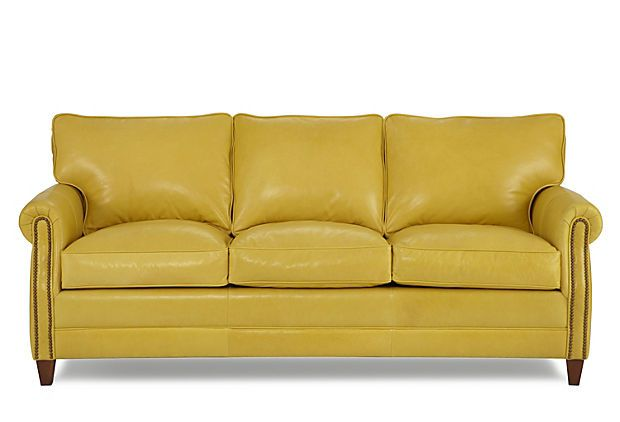 oh my goodness...i want this!  Sundance Sofa, Yellow on OneKingsLane.com