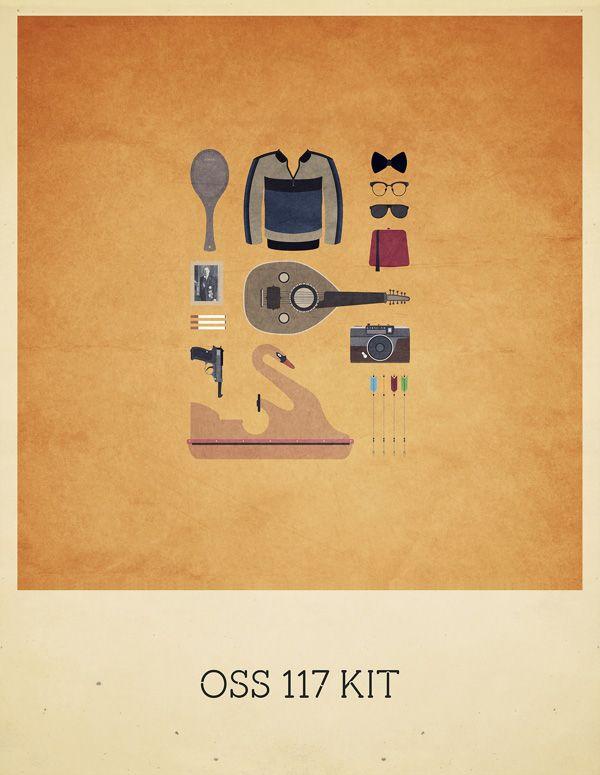 """Les très beaux """"Movies Hipster Kits"""" de l'illustratrice parisienne Alizée Lafon reviennent. Après une première série de posters en mai 2013, voici les nouveaux kits avec Drive, Game of Thrones, The Grand Budapest Hotel ou encore celui d'OSS 117. Des affiches à vendre sur la page Curioos d'Alizée Lafon. Série de mai 2014 Série…"""