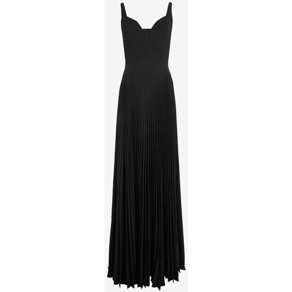 A.L.C. Harley Slit Gown ($699) ❤ liked on Polyvore featuring dresses, gowns, long dresses, vestidos, black, cocktail dresses, long party dresses, long black evening dresses and evening dresses