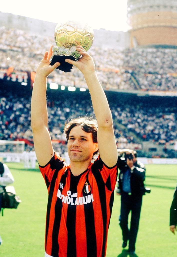 Marco Van Basten Balon d'Or winner with Milan 1988/89/92