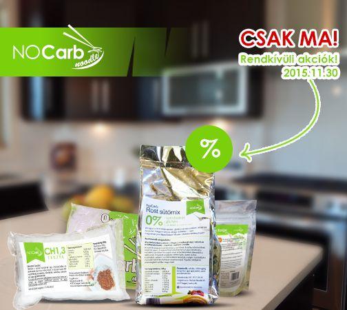 Green Monday a NoCarb Noodle-nél! Akciós árak csak a mai napon (2015.11.30)! Ne szalaszd el ezt a lehetőséget! | Klikk a képre az akciós árakért!