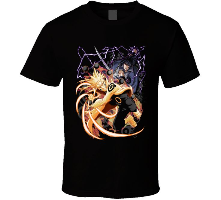 Naruto Shippuden T Shirt Vs Sasuke Uchiha Fun Anime Graphic Tee Unisex  Apparel