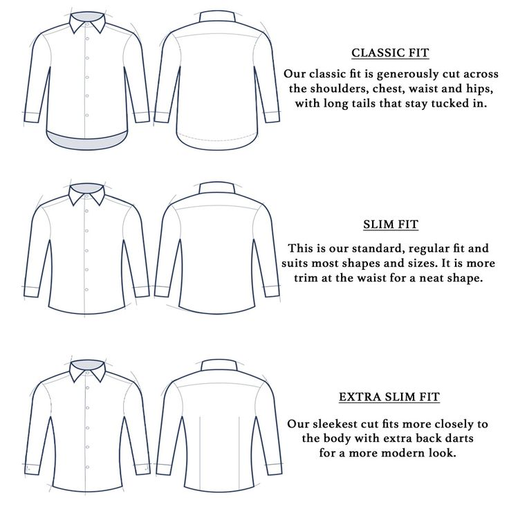 Classic Fit Slim Fit And Extra Slim Fit Shirts Well