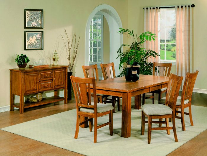 Oak Dining Room Tables Solid Oak Dining Table Arrowback Chair
