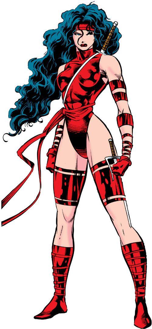 Elektra (Marvel Comics) by Deodato. From http://www.writeups.org/elektra-daredevil-marvel-comics/