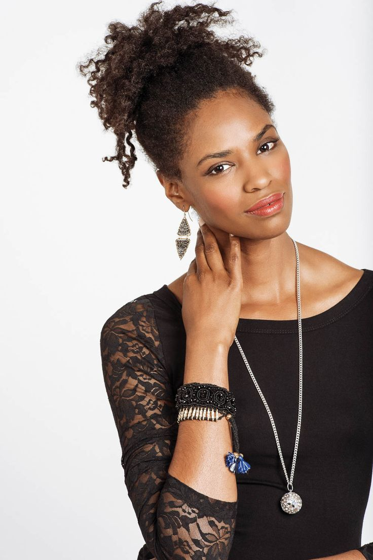 YES PLEASE!!  Glam up this Winter with our Celestial Necklace and Black Diamond Earrings.