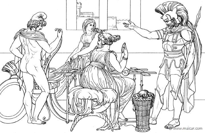 Paride ed Ettore (Hom.Il.6.319). Bonaventura Genelli (1798 – 1868)