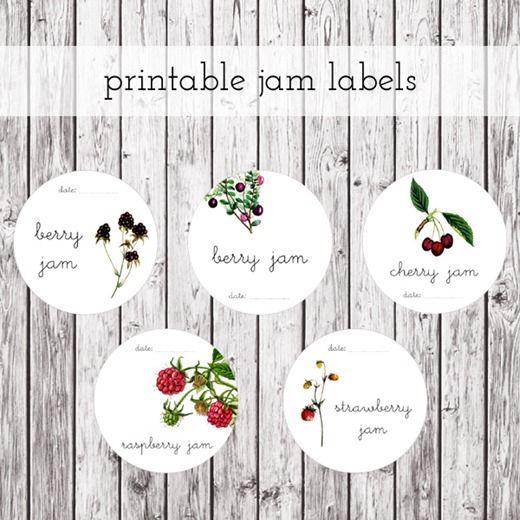 jam labels {free printables}