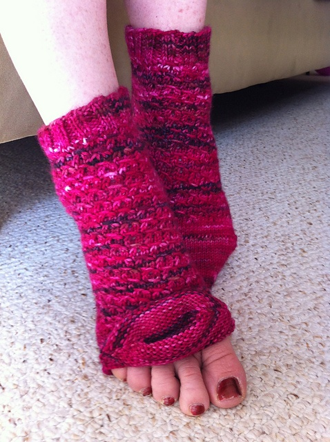 Ravelry: Holly Golightly pedicure socks pattern by Heather Ordover