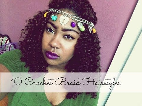 10 ways to style hair 10 ways to wear your crochet braids crochet 5134