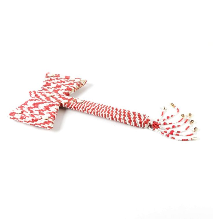 Ceremonial Santería Beaded Axe_Need an updated version of one of these to hang on a wall