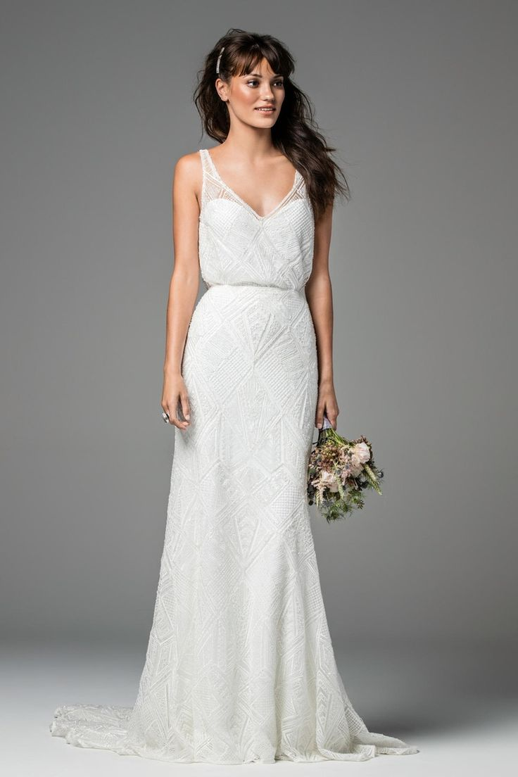 willowby spring tank top wedding dresses Willowby Zora Beaded Skirt wedding dress Tank Top