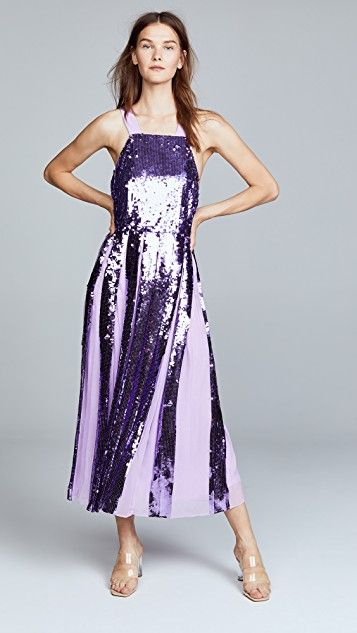 4a33397e128 Tibi Sequin Overall Dress