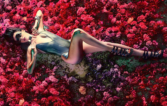 資生堂、花をテーマにした創作ヘア&メーキャップ写真展 - ビジュアルに松岡モナを起用 - 写真3 | ファッションニュース - ファッションプレス