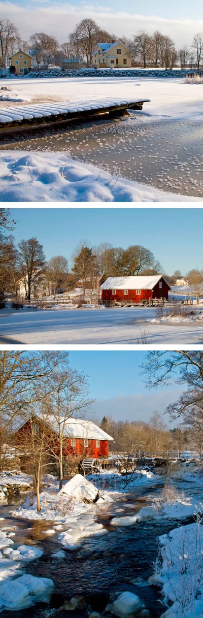 Winter in Komstad, Småland, Sweden