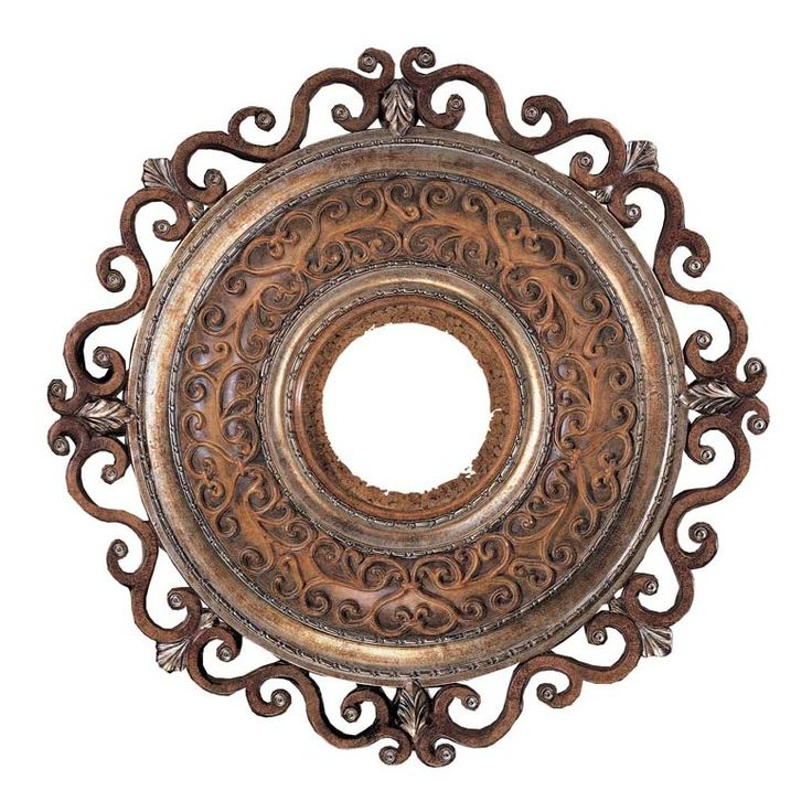 Features:  -Matching ceiling medallion for Minka Aire ceiling fan model: F705-TSP.  -22'' ceiling medallion diameter.  -Finish is Tuscan Patina.  Product Type: -Ceiling Medallions.  Material: -Metal.