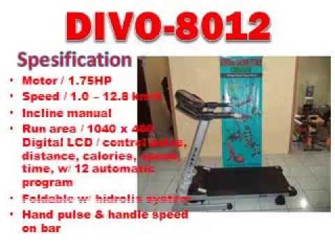 tread elektrik 1 f fungsi , divo 8012, treadmill murah, free ongkir bandung