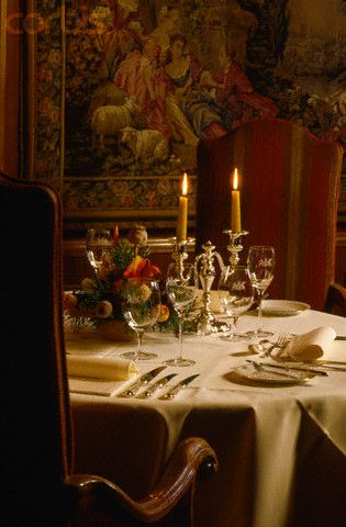 Dining Table in Vienna's Imperial Hotel