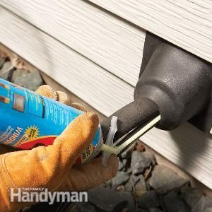 Use a rubber plumbing boot to seal holes in your siding, keeping heat in and mice out!