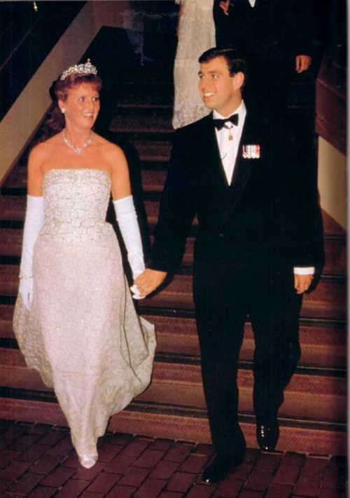 The Duke and Duchess of York in happier days, the Duchess looking absolutely lovely!