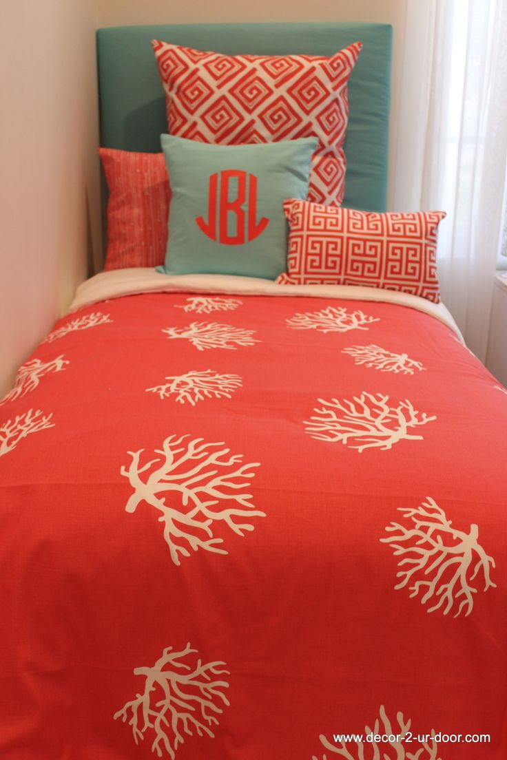 57 Best Images About Coral And Teal Bedding On Pinterest