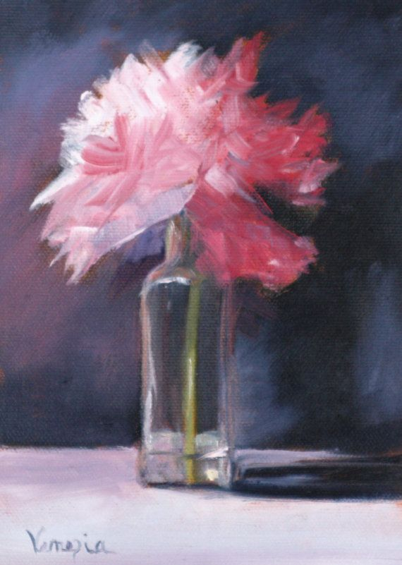 Faragrant Pink Flowers In The Glass Cross