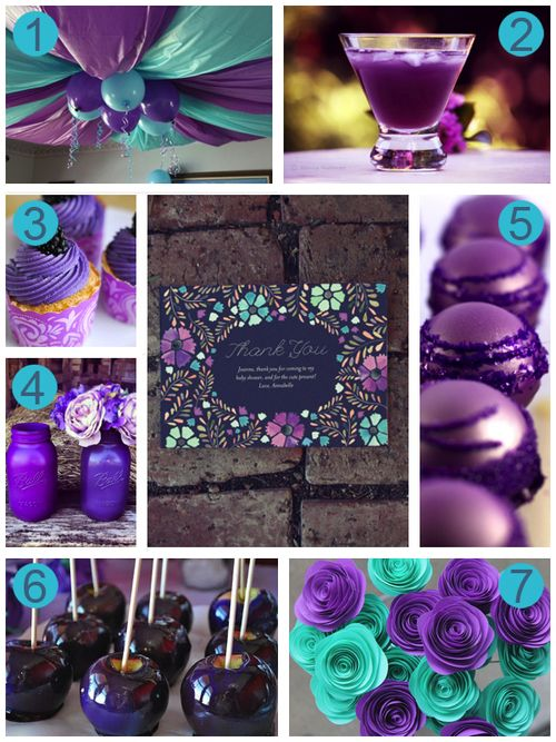 Purple And Aqua Baby Shower Color Inspiration