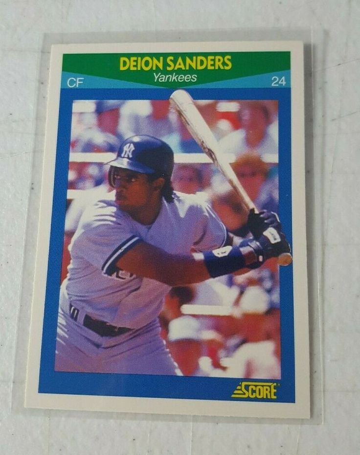 1989 score deion sanders baseball rookie card rc new york