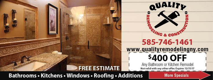 Get a free estimate from Quality Remodeling and Construction - remodeling estimate