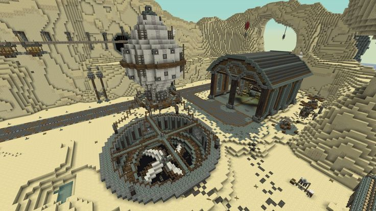 Western Steampunk City Minecraft Project | Drawing-pixal ...