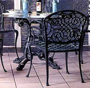 Garden And Patio Furniture, Cast Aluminum Garden Furniture Bavarian Dining  Chair These Are Classic Reproduction