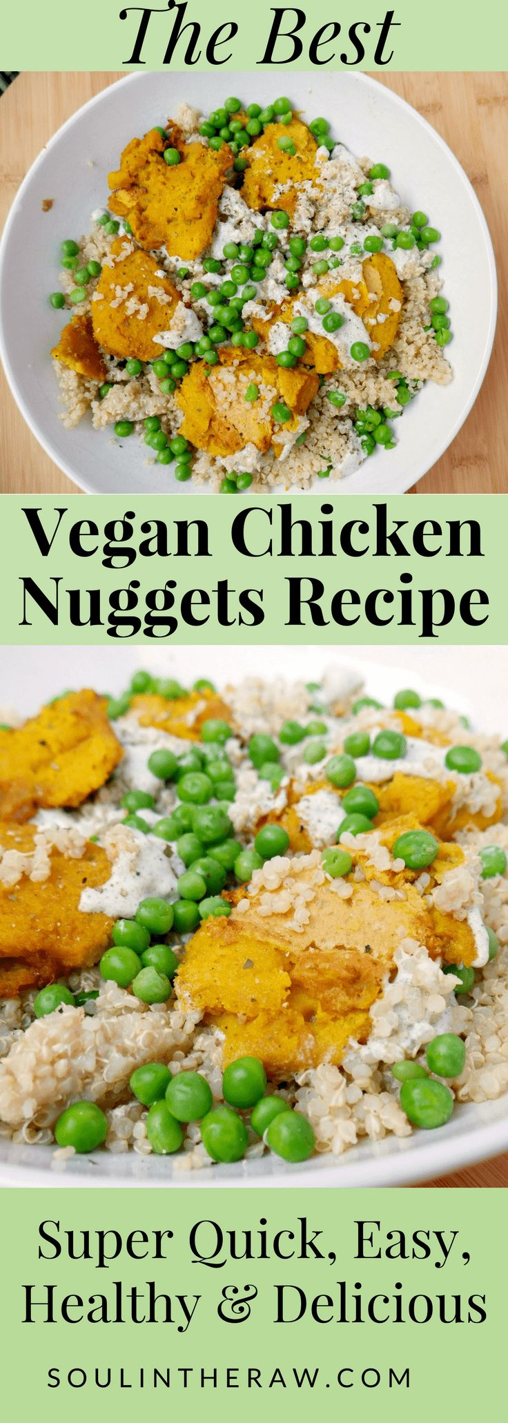 These vegan chicken nuggets are absolutely delicious, and super simple! They are such a great alternative to chicken, because these vegan chicken nuggets are made with amazing and clean ingredients. Who needs chicken when you have these plant based chicken nuggets? Check out the full recipe on the blog, and make them asap!