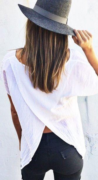 #street #style / split-back top