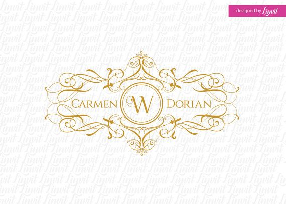 Calligraphy wedding monogram-wedding logo-wedding by Linvit